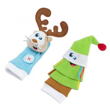 Развивающие игрушки носочки Олененок и елочка
