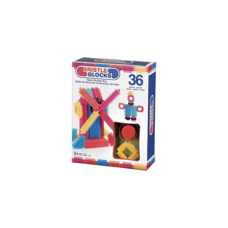 Конструктор Bristle Blocks 36 элементовКонструктор Bristle Blocks 36 элементовмарки Battat.<br>Безопасный красочный конструктор позволит ребенку проявить свою фантазию и творческие навыки. Все детали конструктора выполнены оригинально, они имеют игольчатые стороны, которые позволяют легко и надежно соединять детали между собой.<br>В наборе: 36элементов.<br><br>Возраст от: 2 года<br>Пол: Не указан<br>Артикул: 648731<br>Бренд: Канада<br>Размер: от 2 лет