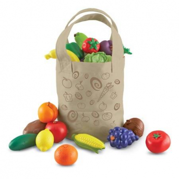 Игрушки, Набор Сумка со свежими овощами и фруктами Learning Resources 648639, фото