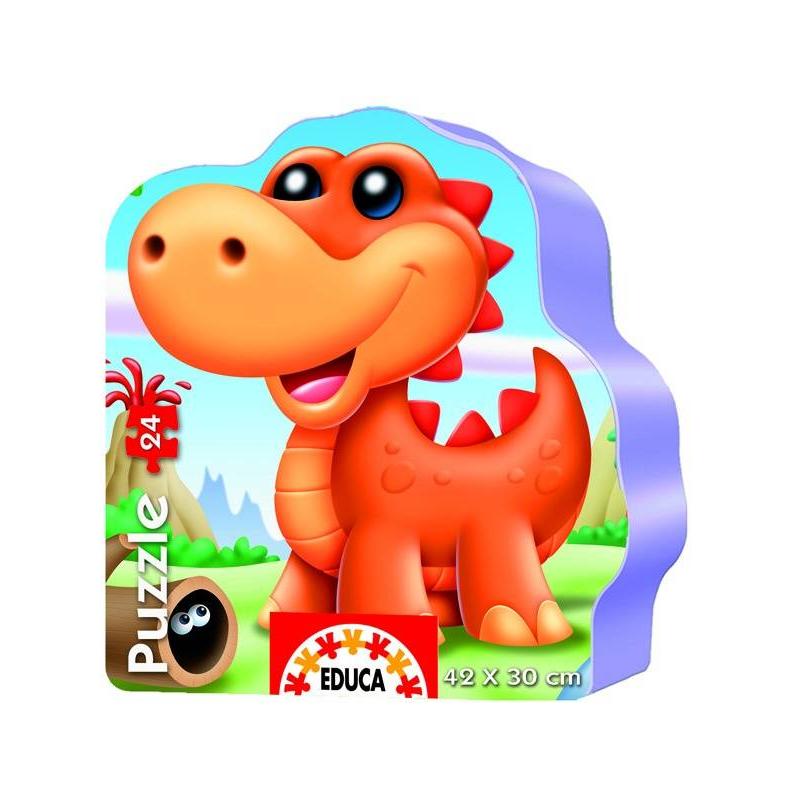 Пазл Динозаврики 36 деталейПазл Динозаврикимарки Educa.<br>Пазл-силуэт выполнен из очень плотного высококачественного картона: краска предназначена для маленьких детей, яркие детали без острых углов, не гнутся и не ломаются. Для хранения есть удобная коробочка.<br>Картинка размером 24х30 см состоит из 36 деталей.<br>Развивает мелкую моторику, логику и усидчивость.<br><br>Возраст от: 3 года<br>Пол: Не указан<br>Артикул: 648687<br>Бренд: Испания<br>Размер: от 3 лет<br>Количество деталей: до 50<br>Тематика: Животные