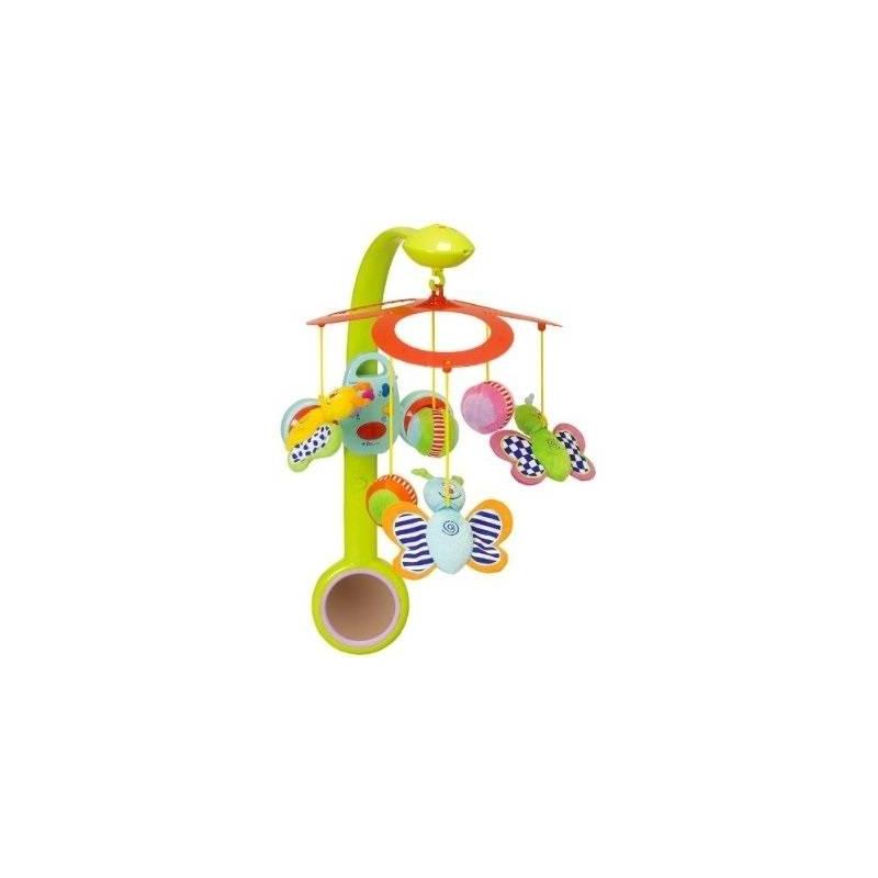 Музыкальный мобиль БабочкиМузыкальный мобильБабочки марки Taf Toys.<br>Мобиль предназначен для использования в детской кроватке, воспроизводит мелодии из классических произведений известных композиторов. На дугу крепитсястерео-радио, которое можно снять, когда малыш подрастет, иприкрепить его к бортику кроватки специальным ремешком (входит в комплект). Таким образом малышсможет самостоятельно включать любимые мелодии и регулировать громкость.<br>Игрушка развивает: моторику рук, тактильное, слуховое, зрительное и цветовое восприятие.<br>Для работы игрушкитребуются 4батарейки типа АА (не входят в комплект).<br><br>Возраст от: 0 месяцев<br>Пол: Не указан<br>Артикул: 648770<br>Бренд: Израиль<br>Размер: от 0 месяцев