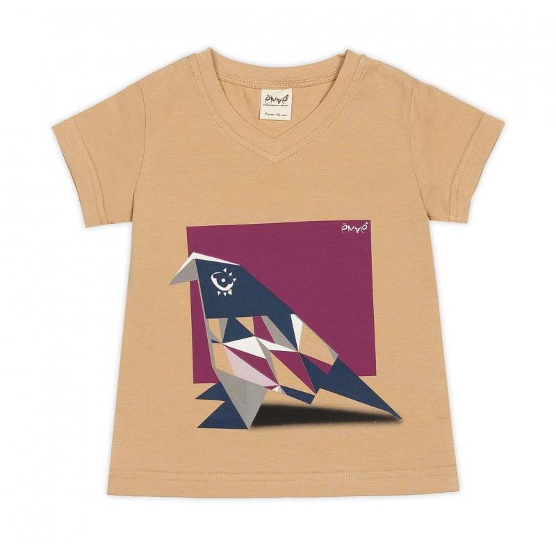 ФутболкаФутболкабежевогоцвета марки Ёмаё для девочек.<br>Стильная футболка с коротким рукавом и V-образным вырезом горловинывыполнена из хлопкового трикотажа с добавлением эластана. Футболка декорирована оригинальным принтом с изображением оригами-птички, а также логотипом бренда.<br><br>Размер: 4 года<br>Цвет: Бежевый<br>Рост: 104<br>Пол: Для девочки<br>Артикул: 700002<br>Бренд: Россия<br>Страна производитель: Россия<br>Сезон: Весна/Лето<br>Состав: 92% Хлопок, 8% Эластан