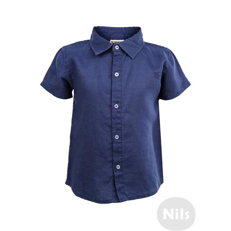РубашкаЛьняная синяя рубашка с коротким рукавом марки WOOLOO MOOLOO для мальчиков. Рубашка классического кроя с коротким рукавомвыполнена из натурального льна и украшена вышитым логотипом на груди. Застегивается на пуговицы.<br><br>Размер: 12 месяцев<br>Цвет: Синий<br>Рост: 80<br>Пол: Для мальчика<br>Артикул: 606152<br>Страна производитель: Китай<br>Сезон: Весна/Лето<br>Состав: 100% Лен<br>Бренд: Испания