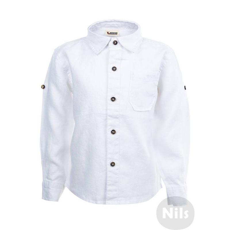 РубашкаБелая льняная рубашка марки WOOLOO MOOLOO для мальчиков. Рубашка классического кроя с нагрудным кармашком выполнена из натурального льна. Застегивается на пуговицы. Рукава можно подворачивать.<br><br>Размер: 12 месяцев<br>Цвет: Белый<br>Рост: 80<br>Пол: Для мальчика<br>Артикул: 606105<br>Страна производитель: Китай<br>Сезон: Весна/Лето<br>Состав: 100% Лен<br>Бренд: Испания