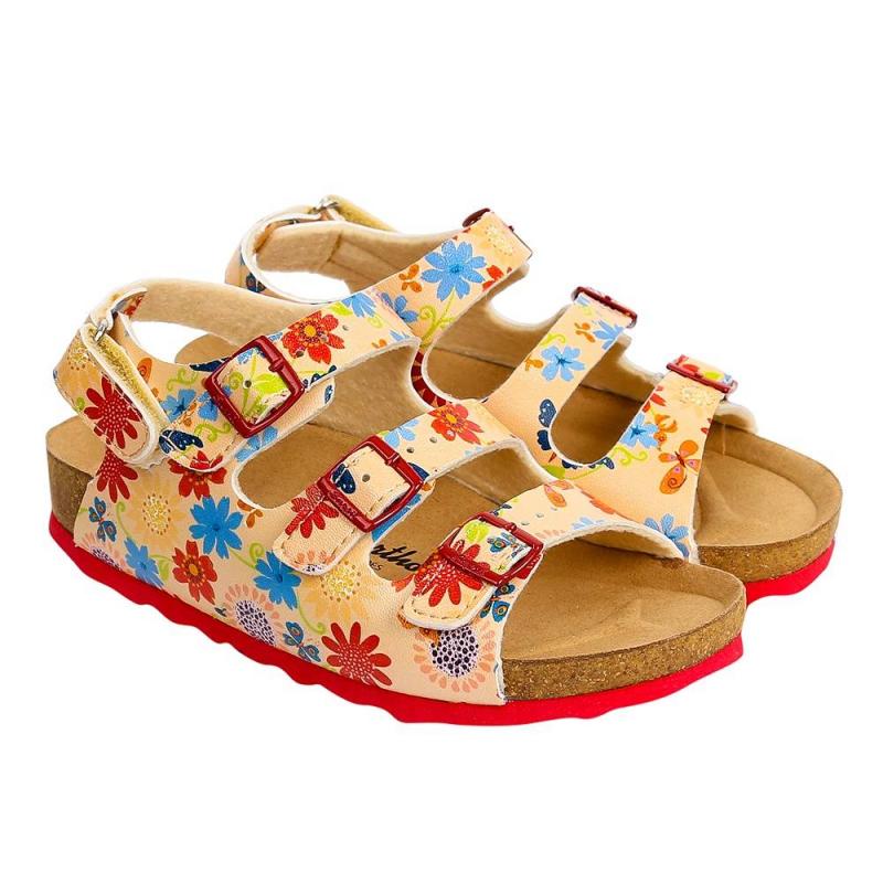 СандалетыСандалетыперсиковогоцвета марки Sursil-Ortho длядевочек.<br>Профилактическая ортопедическая обувь Сурсил-Орто способствует правильному формированию стопы и предотвращает развитие деформации стоп у детей. Эта обувь изготовлена по специальной технологии и не может нанести вред физиологии и развитию стоп ребенка.<br>Профилактическая обувь Сурсил-Орто способствует: правильной физиологической установке стопы в обуви, формированию правильного стереотипа походки, профилактике развития плоскостопия у детей, формированию правильной осанки у детей.<br>Стильные анатомические сандалеты на липучке выполнены в насыщенном цвете и декорированы ярким цветочным принтом. Пробковая подошвапозволяет обуви правильно реагировать на любые движения стопы.<br><br>Размер: 34<br>Цвет: Персиковый<br>Пол: Для девочки<br>Артикул: 641746<br>Сезон: Весна/Лето<br>Материал верха: Экокожа<br>Материал стельки: Текстиль<br>Материал подошвы: Пробка, Термоэластопласт (TR)<br>Бренд: Россия