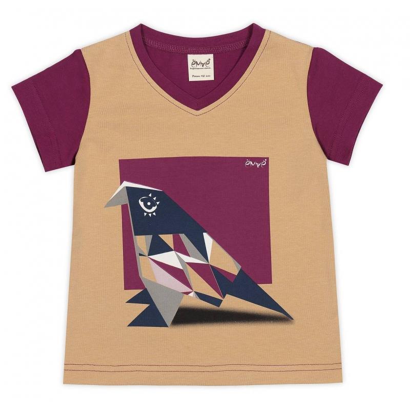 ФутболкаФутболкасливовогоцвета маркиЁМАЁдля девочек.<br>Стильная футболка с V-образным вырезом горловинывыполнена из хлопка с добавлением эластана. Модель скоротким рукавом декорирована оригинальным принтом с изображением оригами-птички, а также вставкой бежевого цвета.<br><br>Размер: 3 года<br>Цвет: Сливовый<br>Рост: 98<br>Пол: Для девочки<br>Артикул: 649792<br>Страна производитель: Россия<br>Сезон: Весна/Лето<br>Состав: 92% Хлопок, 8% Эластан<br>Бренд: Россия