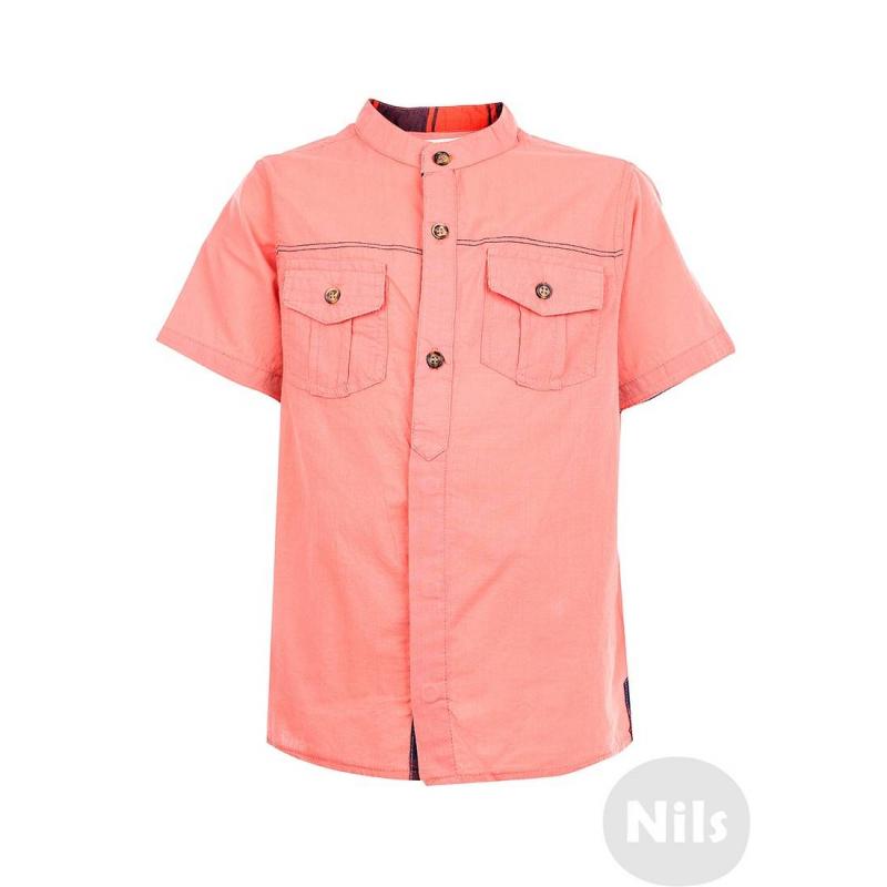 Рубашка - NANICAРубашка кораллового цвета с коротким рукавом марки NANICA для мальчиков. Рубашка с двумя нагрудными карманами сшитаиз тонкого стопроцентного хлопка. Отделка выполнена из контрастного материала в клеточку. Рубашка застегивается на пуговицы.<br><br>Размер: 6 лет<br>Цвет: Оранжевый<br>Рост: 116<br>Пол: Для мальчика<br>Артикул: 606027<br>Страна производитель: Турция<br>Сезон: Весна/Лето<br>Состав: 100% Хлопок<br>Бренд: Турция