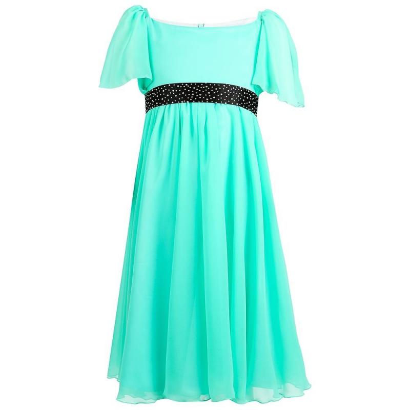 ПлатьеПлатье зелёногоцвета марки Fansy Way.<br>Праздничное платье с коротким рукавом выполнено из лёгкой мягкой ткани и дополнено хлопковой подкладкой. Модель украшена контрастным поясом со стразами, завязывающимся сзади в бант. Платье застегивается на потайную молнию и шнуровку на спинке.<br><br>Размер: 10 лет<br>Цвет: Зеленый<br>Рост: 140<br>Пол: Для девочки<br>Артикул: 649685<br>Страна производитель: Россия<br>Сезон: Всесезонный<br>Состав: 100% Полиэстер<br>Состав подкладки: 100% Хлопок<br>Бренд: Россия<br>Вид застежки: Молния