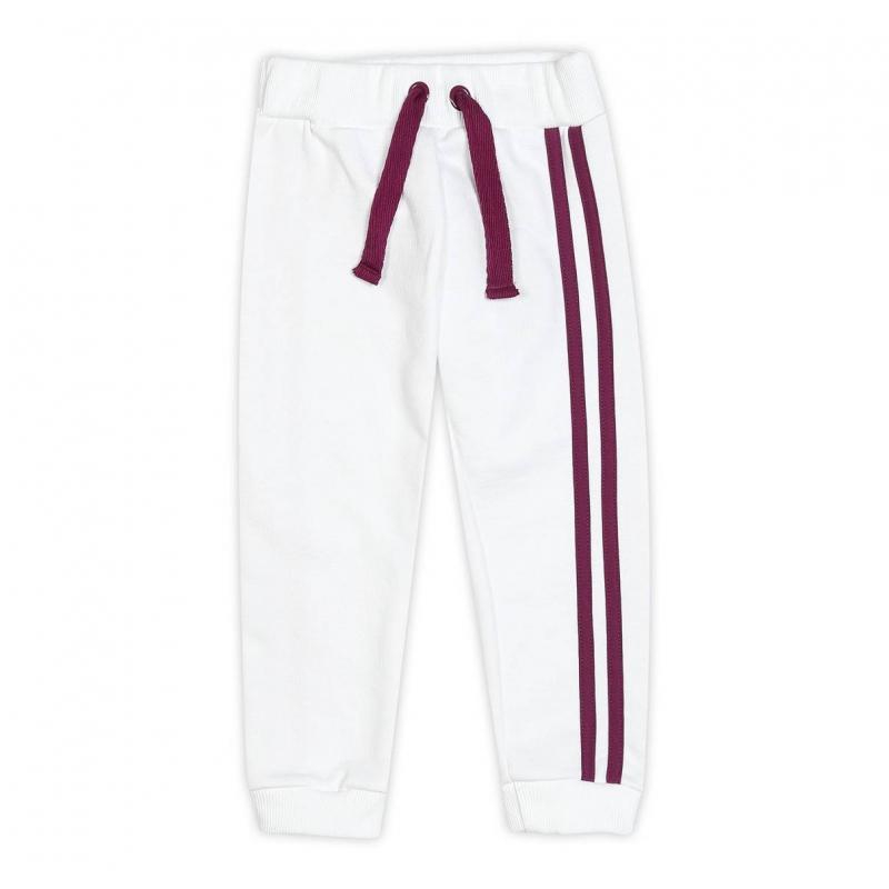 БрюкиБрюкибелогоцвета марки ЁМАЁ для девочек.<br>Стильные брюки спортивного стиля выполнены из чистого хлопка и украшеныконтрастными вставками, а также изображением, имитирующим карман. Модель дополнена эластичной резинкой на поясе и декоративной шнуровкой.<br><br>Размер: 5 лет<br>Цвет: Белый<br>Рост: 110<br>Пол: Для девочки<br>Артикул: 700031<br>Страна производитель: Россия<br>Сезон: Весна/Лето<br>Состав: 100% Хлопок<br>Бренд: Россия