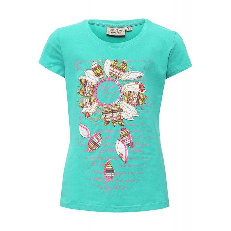 ФутболкаФутболка зеленогоцвета маркиFinn Flare для девочек.<br>Хлопковая футболка с добавлением эластана выполнена в насыщенном цвете. Модель украшена стильными надписями, паетками и декоративной строчкой, а также аппликациями в виде цветка.<br><br>Размер: 5 лет<br>Цвет: Зеленый<br>Рост: 110<br>Пол: Для девочки<br>Артикул: 676036<br>Страна производитель: Бангладеш<br>Сезон: Весна/Лето<br>Состав: 95% Хлопок, 5% Эластан<br>Бренд: Финляндия