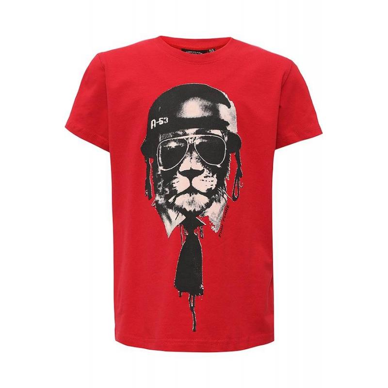 ФутболкаФутболка красного цвета маркиFinn Flare для мальчиков.<br>Стильная футболка с коротким рукавомвыполнена из хлопка с добавлением эластана. Модель украшена принтом с изображением льва в каске, солнечных очках и с галстуком.<br><br>Размер: 7 лет<br>Цвет: Красный<br>Рост: 122<br>Пол: Для мальчика<br>Артикул: 676313<br>Страна производитель: Бангладеш<br>Сезон: Весна/Лето<br>Состав: 95% Хлопок, 5% Эластан<br>Бренд: Финляндия