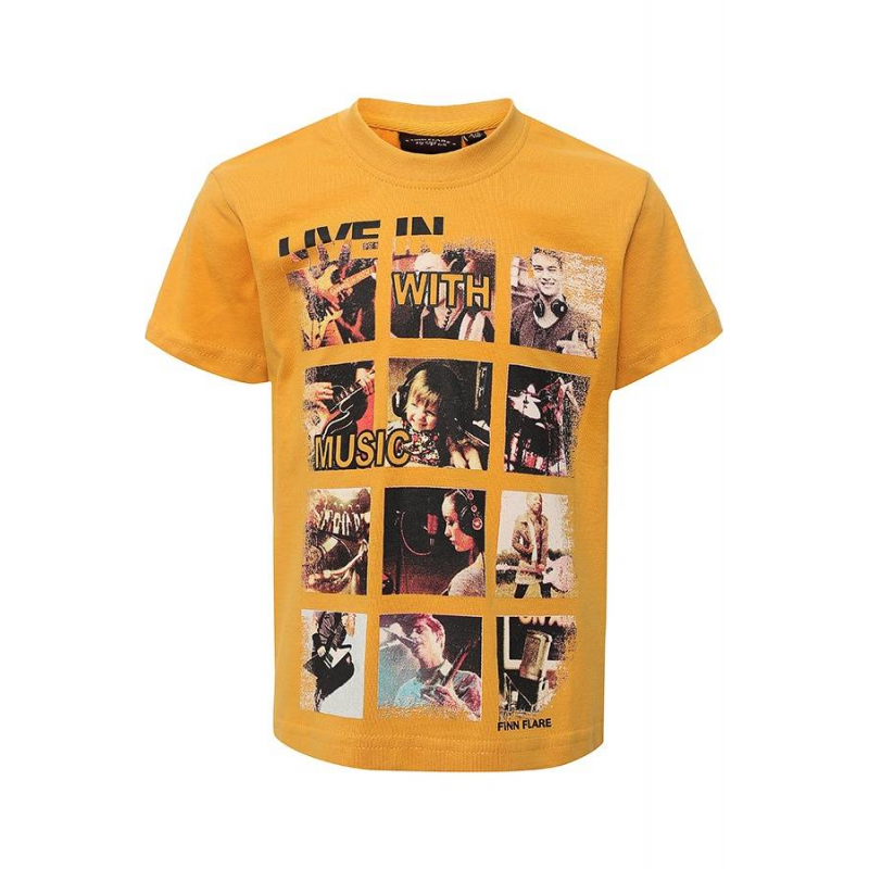 ФутболкаФутболка оранжевогоцвета маркиFinn Flare для мальчиков.<br>Стильная футболка с коротким рукавомвыполнена из чистого хлопка. Модель украшена принтом музыкальной тематики с фотографиями и надписями.<br><br>Размер: 9 лет<br>Цвет: Оранжевый<br>Рост: 134<br>Пол: Для мальчика<br>Артикул: 676285<br>Страна производитель: Бангладеш<br>Сезон: Весна/Лето<br>Состав: 100% Хлопок<br>Бренд: Финляндия