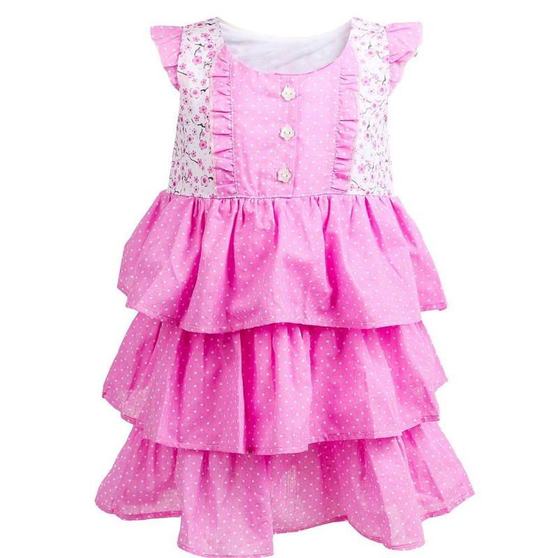 ПлатьеПлатьерозовогоцвета маркиSoniKids.<br>Легкое платье, выполненное из чистого хлопка, декорировано принтом в мелкий горошек и нежные цветы, а также украшено милыми рюшами. Спереди модель дополнена пуговицами.<br><br>Размер: 2 года<br>Цвет: Розовый<br>Рост: 92<br>Пол: Для девочки<br>Артикул: 648222<br>Страна производитель: Россия<br>Сезон: Весна/Лето<br>Состав: 100% Хлопок<br>Бренд: Россия<br>Вид застежки: Пуговицы
