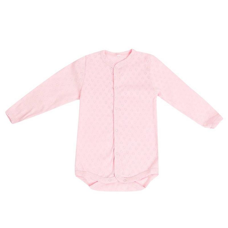 БодиБоди розовогоцвета маркиSoniKids для девочек.<br>Боди с длинным рукавом, выполненное из чистого хлопка, декорировано выбитым геометрический узором и дополненокнопками по всей длине и по шаговому швудля удобства переодевания малышки.<br><br>Размер: 18 месяцев<br>Цвет: Розовый<br>Рост: 86<br>Пол: Для девочки<br>Артикул: 648135<br>Страна производитель: Россия<br>Сезон: Всесезонный<br>Состав: 100% Хлопок<br>Бренд: Россия<br>Вид застежки: Кнопки