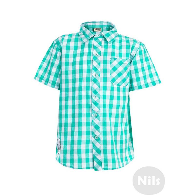 РубашкаРубашка в зеленую клетку с коротким рукавом марки WOOLOO MOOLOO для мальчиков. Рубашка классического кроя с нагрудным карманом выполнена из стопроцентного хлопка и украшена стильной вышивкой на спинке. Рубашка застегивается на пуговицы.<br><br>Размер: 8 лет<br>Цвет: Зеленый<br>Рост: 128<br>Пол: Для мальчика<br>Артикул: 606127<br>Страна производитель: Китай<br>Сезон: Весна/Лето<br>Состав: 100% Хлопок<br>Бренд: Испания