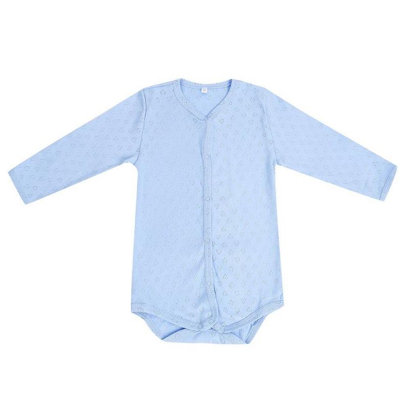 БодиБодиголубогоцвета маркиSoniKids длямальчиков.<br>Боди с длинным рукавом, выполненное из чистого хлопка, декорировано выбитым геометрический узором и дополненокнопками по всей длине и по шаговому швудля удобства переодевания малыша.<br><br>Размер: 2 месяца<br>Цвет: Голубой<br>Рост: 56<br>Пол: Для мальчика<br>Артикул: 648126<br>Страна производитель: Россия<br>Сезон: Всесезонный<br>Состав: 100% Хлопок<br>Бренд: Россия<br>Вид застежки: Кнопки