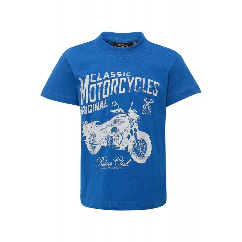 ФутболкаФутболкасинегоцвета Finn Flare для мальчиков.<br>Стильнаяфутболка с коротким рукавомвыполнена из чистого хлопка и декорирована стильным принтом с надписями и изображением мотоцикла.<br><br>Размер: 11 лет<br>Цвет: Синий<br>Рост: 146<br>Пол: Для мальчика<br>Артикул: 676255<br>Страна производитель: Бангладеш<br>Сезон: Весна/Лето<br>Состав: 100% Хлопок<br>Бренд: Финляндия