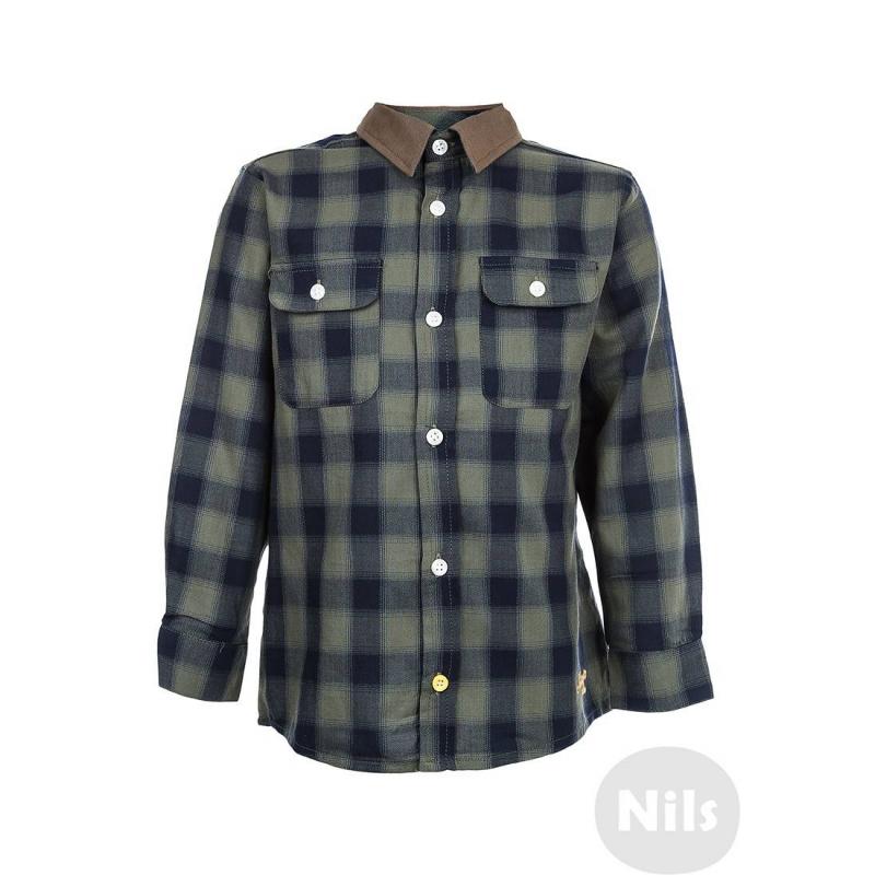 РубашкаКлетчатая рубашка цвета хаки марки NANICA для мальчиков. Рубашка с двумя нагрудными карманами выполнена из стопроцентного хлопка. На локтях декоративные заплатки. Рубашка застегивается на пуговицы.<br><br>Размер: 4 года<br>Цвет: Хаки<br>Рост: 104<br>Пол: Для мальчика<br>Артикул: 606069<br>Страна производитель: Турция<br>Сезон: Всесезонный<br>Состав: 100% Хлопок<br>Бренд: Турция