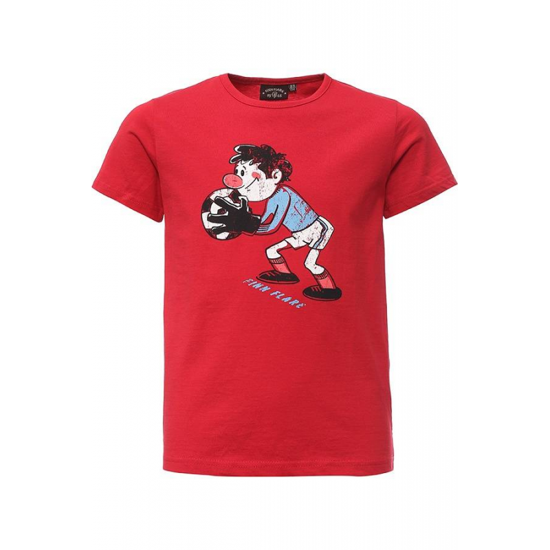 ФутболкаФутболка красногоцвета маркиFinn Flare для мальчиков.<br>Яркаяфутболка с коротким рукавом выполнена из натурального хлопка. Модельукрашена принтом с логотипом бренда и изображением футболиста из известного советского мультфильма Футбольные звёзды.<br><br>Размер: 5 лет<br>Цвет: Красный<br>Рост: 110<br>Пол: Для мальчика<br>Артикул: 676354<br>Страна производитель: Бангладеш<br>Сезон: Весна/Лето<br>Состав: 100% Хлопок<br>Бренд: Финляндия