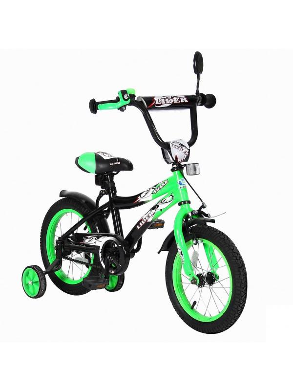 Велосипед двухколесный Lider Shark 14 VELOLIDER (зеленый)