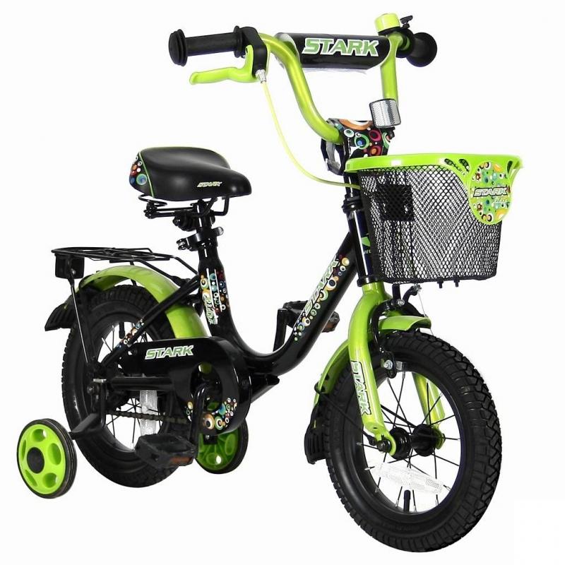 Велосипед двухколесный Lider Stark 12Велосипед двухколесный Lider Stark 12 зеленого цвета марки VELOLIDER.<br>Высококачественный велосипед имеет революционную систему торможения Быстрый тормоз. Создан специально для детей, которым теперь не придется тянуться и с трудом нажимать на тугой тормоз. Теперь и малыши с их маленькими ручками, и взрослые дети смогут затормозить за 1 секунду.<br>Удобные резиновые ручки с ограничителем на концах - рука ребенка будет защищена от ударов. Широкое сиденье с небольшим бортиком сзади и 2-мя подседельными амортизаторами. Подседельные эксцентрики - это полноценные прочные стальные эксцентрики. Для того, чтобы изменить высоту сиденья, инструменты не нужны. Это очень удобно. Стильная стальная облегченная багажная корзинка спереди, глубокая и вместительная. Стальные заднее и переднее крыло. Очень надежные тренировочные боковые колеса. Передний светоотражатель - на руле. На спицах переднего и заднего колес - большие светоотражатели.<br>В комплекте: звонок, дополнительные колеса, инструмент для сборки велосипеда.<br>Максимальная нагрузка: не более 40 кг при росте 96-104 см. Регулировка седла от 49 до 58 см.<br>Диаметр колес: 12;<br>Рама: сталь;<br>Вилка передняя: сталь жесткая;<br>Втулка передняя/задняя: SHUNFENG;<br>Тормоз передний: ручной клещевой. Задний: ножной;<br>Покрышки: YIDA 12х2,125;<br>Крылья: сталь;<br>Педали: пластик;<br>Багажник задний: сталь;<br>Передняя багажная корзинка: сталь;<br>Подножка: сталь;<br>Количество скоростей: 1;<br>Рулевая колонка: сталь;<br>Шатуны: сталь, евро;<br>Обода: сталь;<br>Размер изделия: 90х70х40 см;<br>Вес: 8 кг;<br>Размер упаковки: 75х170х37 см.<br><br>Цвет: Зеленый<br>Возраст от: 3 года<br>Пол: Не указан<br>Артикул: 650634<br>Страна производитель: Китай<br>Бренд: Франция<br>Размер: от 3 лет