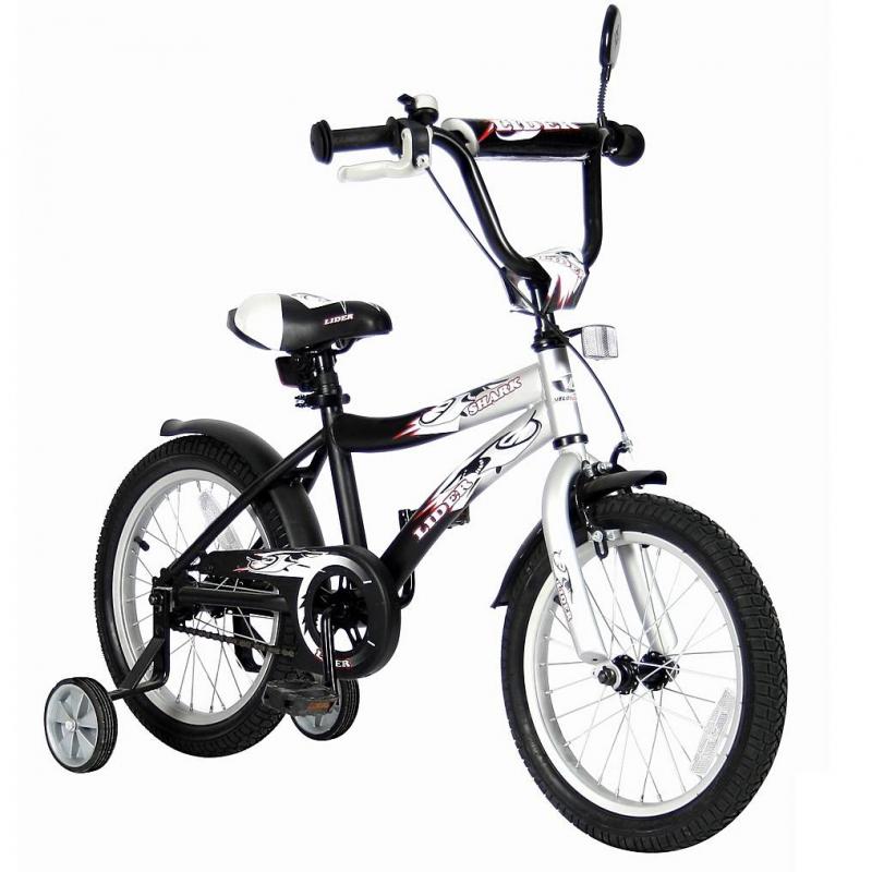 VELOLIDER Велосипед двухколесный Lider Shark 16 тренировочные колеса 16 20