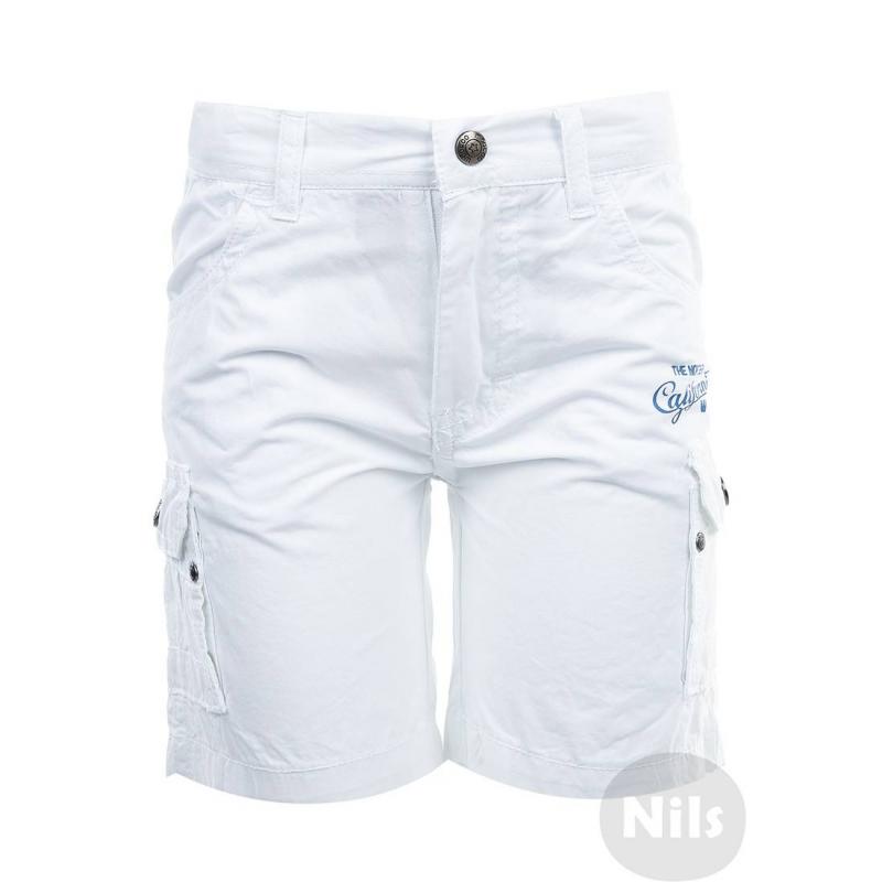 ШортыБелые шорты марки WOOLOO MOOLOO для мальчиков. Шорты с накладными карманами на штанинах выполнены из стопроцентного хлопка, застегиваются на молнию и кнопку. Пояс регулируется специальными пуговицами на внутренней стороне. Шорты украшены принтом Калифорния<br><br>Размер: 6 лет<br>Цвет: Белый<br>Рост: 116<br>Пол: Для мальчика<br>Артикул: 606981<br>Страна производитель: Китай<br>Сезон: Весна/Лето<br>Состав: 100% Хлопок<br>Бренд: Испания
