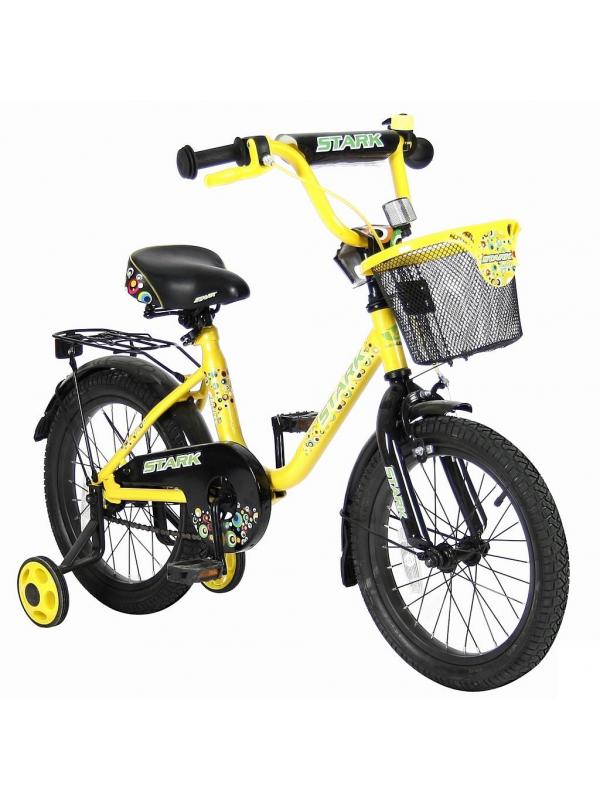 Велосипед двухколесный Lider Stark 16 VELOLIDER (желтый)