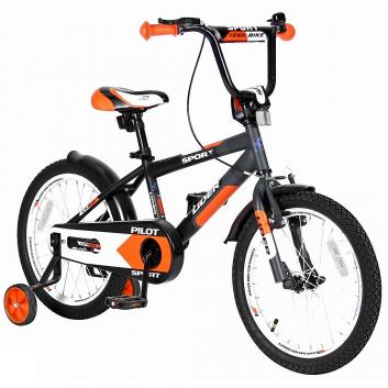 Спорт и отдых, Велосипед двухколесный Lider Pilot 18 VELOLIDER (оранжевый)650657, фото