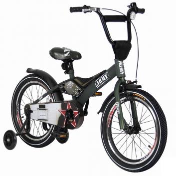 Спорт и отдых, Велосипед двухколесный Rush Army 18 VELOLIDER (хаки)650663, фото