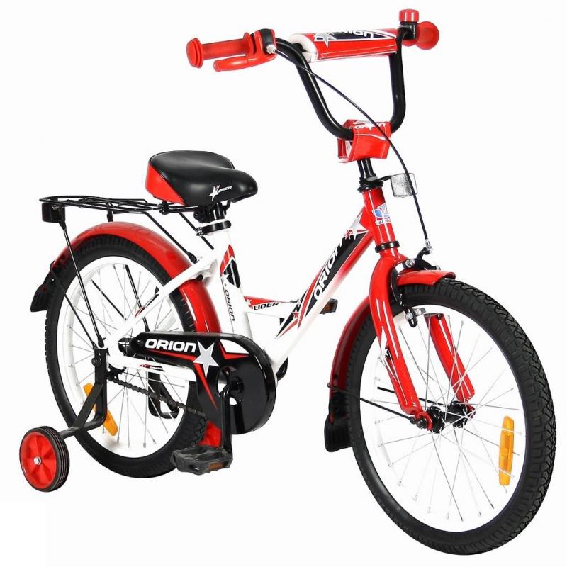 Велосипед двухколесный Lider Orion 18Велосипед двухколесный Lider Orion 18 красного цвета марки VELOLIDER.<br>Высококачественный велосипед имеет революционную систему торможения Быстрый тормоз. Детям теперь не придется тянуться и с трудом нажимать на тугой тормоз. Теперь и малыши с их маленькими ручками, и взрослые дети смогут затормозить за 1 секунду!<br>Удобные резиновые ручки с ограничителем на концах, благодаря которому рука ребенка будет защищена от ударов. Широкое анатомическое сиденье с небольшим бортиком сзади и 2-мя подседельными амортизаторами. Модель имеет стальные подседельные эксцентрики, полноценные и прочные. Для того, чтобы изменить высоту сиденья, инструменты не нужны, это очень удобно. Идеальный классический багажник дополнен задним светоотражателем.<br>Очень надежные тренировочные боковые колеса и высокий эргономичный руль с высококачественным выносом. Стальные заднее и переднее крыло с резиновыми брызговиками. Передний светоотражатель находится над рулевой колонкой, а также большие светоотражатели на спицах переднего и заднего колес. Стальная защита цепи.<br>В комплекте: звонок, дополнительные колеса, инструмент для сборки велосипеда.<br>Максимальная нагрузка: не более 50 кг при росте 114-122см. Регулировка седла от 58 до 62 см.<br>Диаметр колес: 18;<br>Рама: сталь;<br>Вилка передняя: сталь жесткая;<br>Втулка передняя/задняя: SHUNFENG;<br>Тормоз передний: ручной клещевой. Задний: ножной;<br>Покрышки: YIDA 18х2,125;<br>Крылья: сталь;<br>Педали: пластик;<br>Широкое седло;<br>Багажник задний: сталь;<br>Подножка: сталь;<br>Количество скоростей: 1;<br>Рулевая колонка: сталь;<br>Шатуны: сталь, евро;<br>Обода: сталь;<br>Размер изделия: 120х85х40 см;<br>Вес: 10 кг;<br>Размер упаковки: 102х180х48 см.<br><br>Цвет: Красный<br>Возраст от: 4 года<br>Пол: Не указан<br>Артикул: 650675<br>Страна производитель: Китай<br>Бренд: Франция<br>Размер: от 4 лет