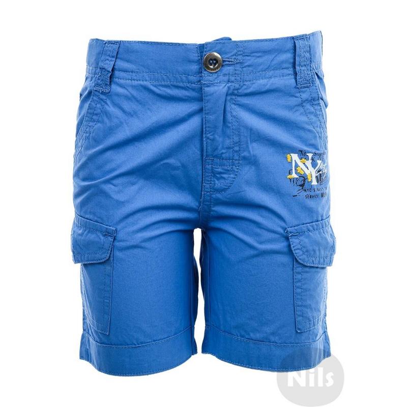 ШортыГолубые шортымарки WOOLOO MOOLOO для мальчиков. Шорты с накладными карманами на штанинах выполнены из стопроцентного хлопка, застегиваются на молнию и кнопку. Пояс регулируется специальными пуговицами на внутренней стороне. Шорты украшены принтом Нью-Йорк<br><br>Размер: 2 года<br>Цвет: Голубой<br>Рост: 92<br>Пол: Для мальчика<br>Артикул: 607004<br>Страна производитель: Китай<br>Сезон: Весна/Лето<br>Состав: 100% Хлопок<br>Бренд: Испания