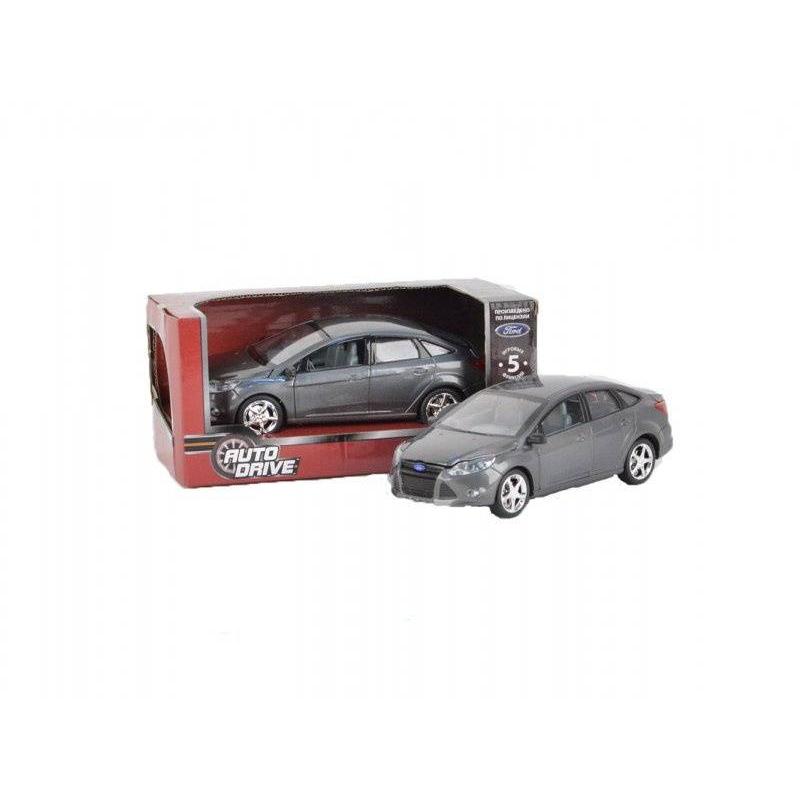 Машинка Форд ФокусМашинка Форд Фокус темно-серого цвета марки AUTODRIVE.<br>Модель автомобиля выполнена по лицензии Ford в масштабе 1:22. Инерционная машинка со световыми и звуковыми эффектами, а также открывающимися дверями и капотом. При нажатии на корпус автомобиля и при открытии дверей издается звук.<br>Материал: пластик;<br>Размер: 10х12х22 см.<br><br>Цвет: Темносерый<br>Возраст от: 3 года<br>Пол: Для мальчика<br>Артикул: 660042<br>Бренд: Россия<br>Страна производитель: Китай<br>Размер: от 3 лет