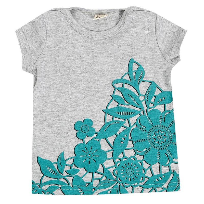 ФутболкаФутболка серогоцвета марки Ёмаё для девочек.<br>Стильная футболка с коротким рукавом выполнена из чистого хлопка, дополнена кнопочными застёжками на плечевом шве для удобства передевания малышки. Модель украшена принтом в виде цветов из кружева.<br><br>Размер: 18 месяцев<br>Цвет: Серый<br>Рост: 86<br>Пол: Для девочки<br>Артикул: 649823<br>Страна производитель: Россия<br>Сезон: Весна/Лето<br>Состав: 100% Хлопок<br>Бренд: Россия<br>Вид застежки: Кнопки