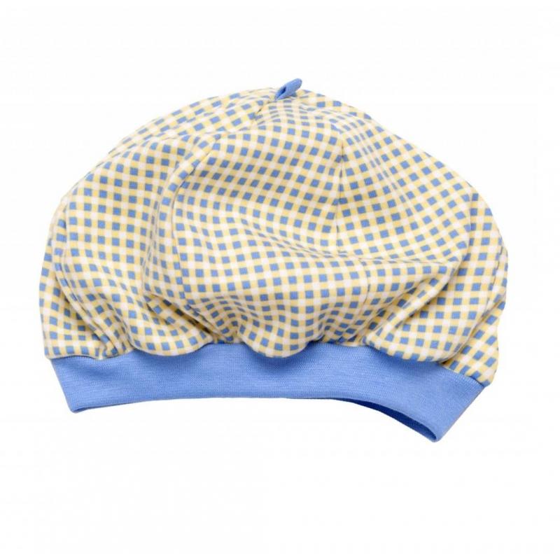 ШапочкаШапочка голубого цвета марки Мамуляндия длямальчиков.<br>Шапочка выполнена из чистого хлопка и декорирована бело-желтым принтом в клетку. Широкая мягкая резинкапрепятствует сползанию изделия на глаза.<br><br>Размер: 12 месяцев<br>Цвет: Голубой<br>Рост: 80<br>Пол: Для мальчика<br>Артикул: 677043<br>Страна производитель: Россия<br>Сезон: Всесезонный<br>Состав: 100% Хлопок<br>Бренд: Россия