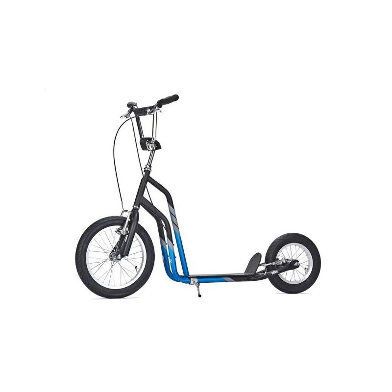 Самокат CityСамокат City синегоцвета марки YEDOO для мальчиков.<br>Самокат на больших надувных колесах для взрослых и детей, ростом не ниже 145 см. Отличное решение для тех, кто любит скорость и агрессивную езду. Легкая, быстрая, прочная и маневренная модель для истинных ценителей самоката. Большое переднее колесо сглаживает неровности, обеспечивая тем самым плавный ход. Невероятный комфорт во время езды дарят эргономичные ручки и удобная платформа. Благодаря качественным тормозам Tectro остановка происходит практически мгновенно, что гарантирует безопасность даже в экстренной ситуации.<br>Характеристики:<br>- рама: Hi-ten steel (облегченная сталь);- размер колёс: переднее 16, заднее 12;- шины: надувные Innova Street;- обода: алюминиевые;- вынос: ten - сталь;- тормоза передние и задние: V-BREAK Tektro;- грипсы: анатомические;- ширина руля: 66 см;- регулируемая высота руля: от 93 до 105 см;- длина платформы для ноги: 36 см;- длина самоката: 135 см;- максимальная нагрузка: до 120 кг;- вес: 9,3 кг;- дополнительно: нескользящая платформа для ног, центральная подножка;- ширина платформы: 12,5 см.<br><br>Цвет: Синий<br>Возраст от: 11 лет<br>Пол: Для мальчика<br>Артикул: 677151<br>Страна производитель: Китай<br>Бренд: Чехия<br>Размер: от 11 лет