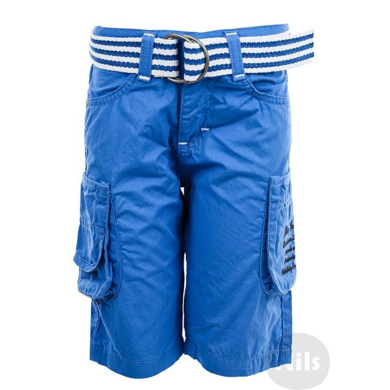 Шорты - NANICAГолубые шорты с ремнем марки NANICA для мальчиков. Шорты с накладными карманами выполнены из стопроцентного хлопка, застегиваются на молнию и пуговицу. Шорты украшены вышивкой на кармане. В комплекте широкий ремень в полоску.<br><br>Размер: 5 лет<br>Цвет: Голубой<br>Рост: 110<br>Пол: Для мальчика<br>Артикул: 607103<br>Страна производитель: Турция<br>Сезон: Весна/Лето<br>Состав: 100% Хлопок<br>Бренд: Турция