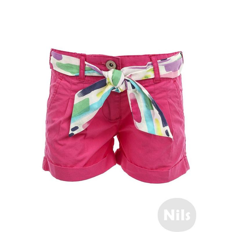 ШортыШорты розовогоцвета марки BIMBALINA для девочек. Шорты с карманами, отворотами и съемным разноцветным поясом выполнены из стопроцентного хлопка. Пояс регулируется специальными пуговицами на внутренней стороне.<br><br>Размер: 3 года<br>Цвет: Розовый<br>Рост: 98<br>Пол: Для девочки<br>Артикул: 607039<br>Страна производитель: Китай<br>Сезон: Весна/Лето<br>Состав: 100% Хлопок<br>Бренд: Испания