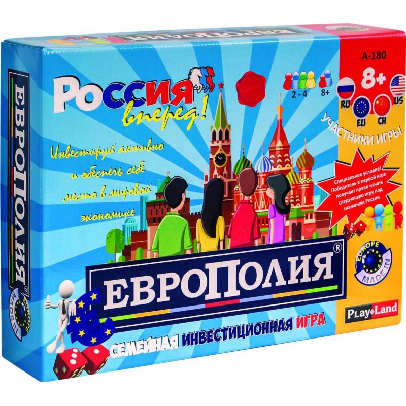PlayLand Настольная игра Европолия playland настольная игра в мире животных