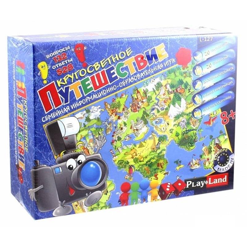 PlayLand Настольная игра Кругосветное путешествие playland настольная игра в мире животных