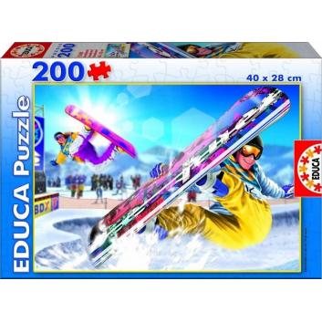 Игрушки, Пазл Сноубординг 200 деталей Educa 667136, фото