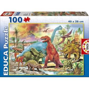 Игрушки, Пазл Динозавры 100 деталей Educa 667142, фото