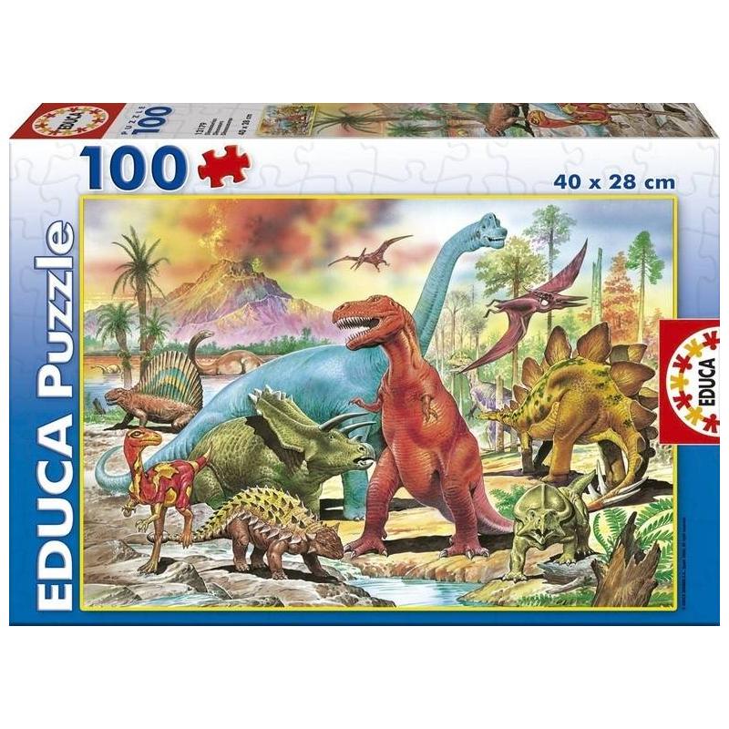 Пазл Динозавры 100 деталей