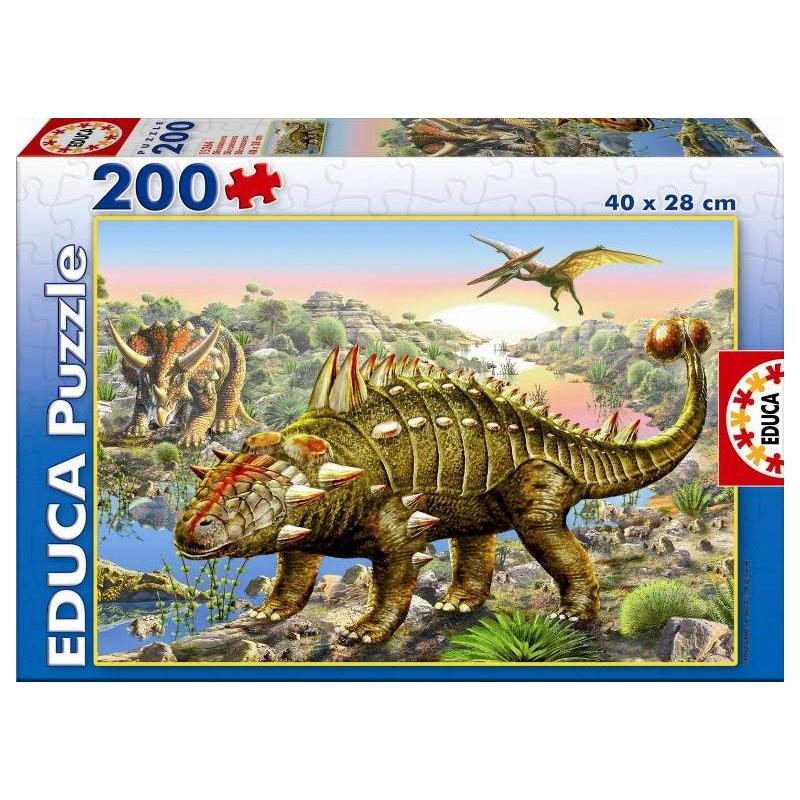 Пазл Динозавры 200 деталей