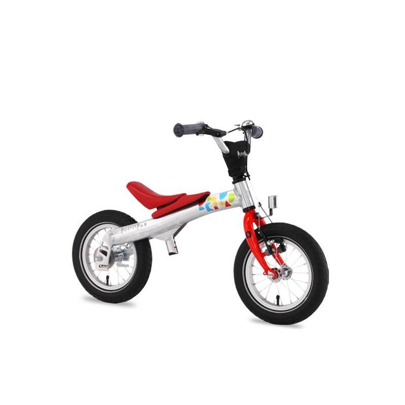 Беговел-велосипед 2 в 1 12Беговел-велосипед 2 в 1 12 красного цвета марки Rennrad.<br>Благодаря беговелу-велосипеду ваш ребенок легко и быстро научится держать равновесие. Большинство деталей велосипеда изготовлено из высококачественного алюминиевого сплава. Он прошел проверку Государственной инспекции безопасности и соответствует требованиям жестких стандартов и правил. Его съемные педали разработаны с помощью врачей ортопедов и педиатров, чтобы помочь детям легко и безопасно научиться балансировать, наклоняться на велосипеде и управлять им с помощью руля. Более того, его уникальная беспедальная конструкция (режим беговела) придает ребенку чувство уверенности и исключает страх, позволяя детям держать ноги на земле и катиться вперед, балансируя и отталкиваясь в своем собственном темпе. Когда дети становятся старше и уверенно держат равновесие, педали можно установить на место, и беговел превратится в полноценный детский велосипед. Такая конструкция два в одном позволяет детям пользоваться своим велосипедом долгое время.Легкая алюминиевая рама имеет специальную форму, которая обеспечивает наилучшую жесткость конструкции и исключает возможные деформации в процессе эксплуатации. Специальная мягкая накладка на верхней части рамы, обеспечивает комфорт малышу во время катания на беговеле и обеспечивает дополнительную защиту от возможных травм. Все компоненты беговела-велосипеда разработаны с учетом детской анатомии и обеспечивают дополнительный комфорт. Передняя звезда, цепь и задняя звездочка полностью закрыты пластиковым чехлом, что обеспечивает безопасность и чистоту рабочих поверхностей во время катания. Легкие шины Innova slick имеют оптимальный протектор-рисунок, обеспечивающий наименьшее сопротивление качению и как результат - наилучший накат беговела-велосипеда. Рулевые ручки (грипсы) изготовлены из эластичного мягкого полиуретана, соответствуют размеру под детскую ладошку и имеют по краям специальную защитную подушечку.  Характеристики:<br>- рама: Alloy 6061 T6 (
