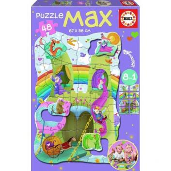 Игрушки, Пазл мега Рыцари и принцессы 48 деталей Educa 667151, фото