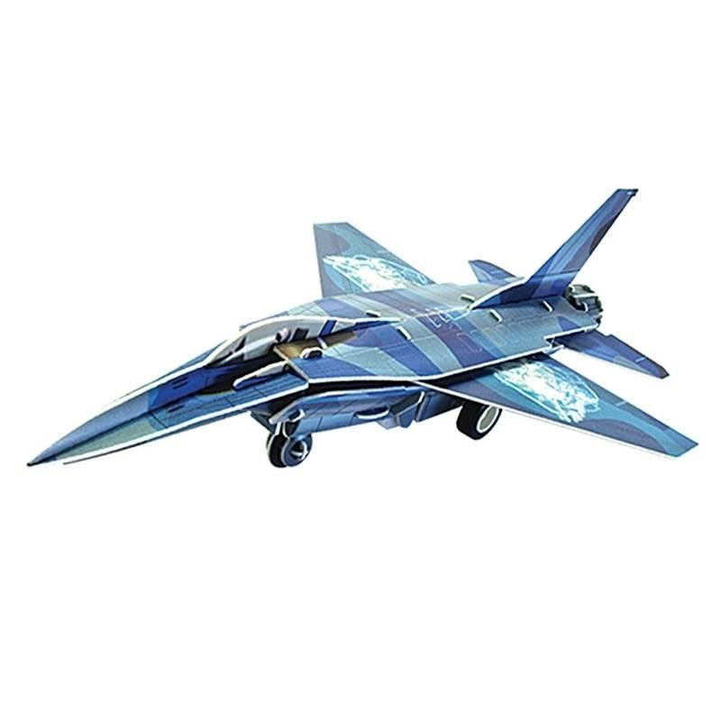IQ Puzzle Пазл 3D Истребитель F 16 42 детали iq puzzle пазл 3d истребитель f 16 42 детали