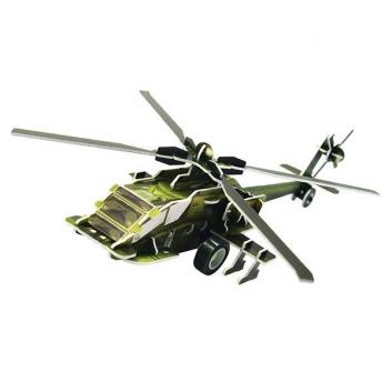 Пазл 3D Вертолет АН 64
