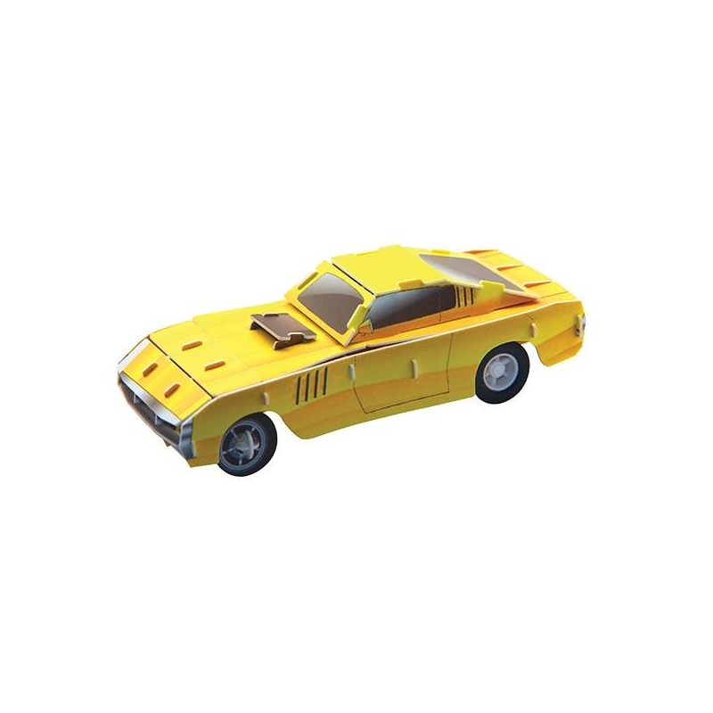 Пазл 3D Желтый гоночный автомобиль 29 деталейПазл 3D Желтый гоночный автомобиль марки IQ Puzzle.<br>Уникальный пазл для создания модели автомобилясостоит из 29деталей и буквально оживает после сборки. Инерционный моторчик входит в комплект. Модель изготовлена из качественного прочного пластика. Такой конструктор помогает в развитиивнимания, зрительного восприятия, логического и образного мышления, мелкой моторики рук. Игрушка легко собирается, не требует специальных инструментов, клея и батареек.<br>Размер: 10,5 см.<br><br>Возраст от: 5 лет<br>Пол: Для мальчика<br>Артикул: 667181<br>Бренд: Китай<br>Размер: от 5 лет<br>Количество деталей: до 50<br>Тематика: Транспорт