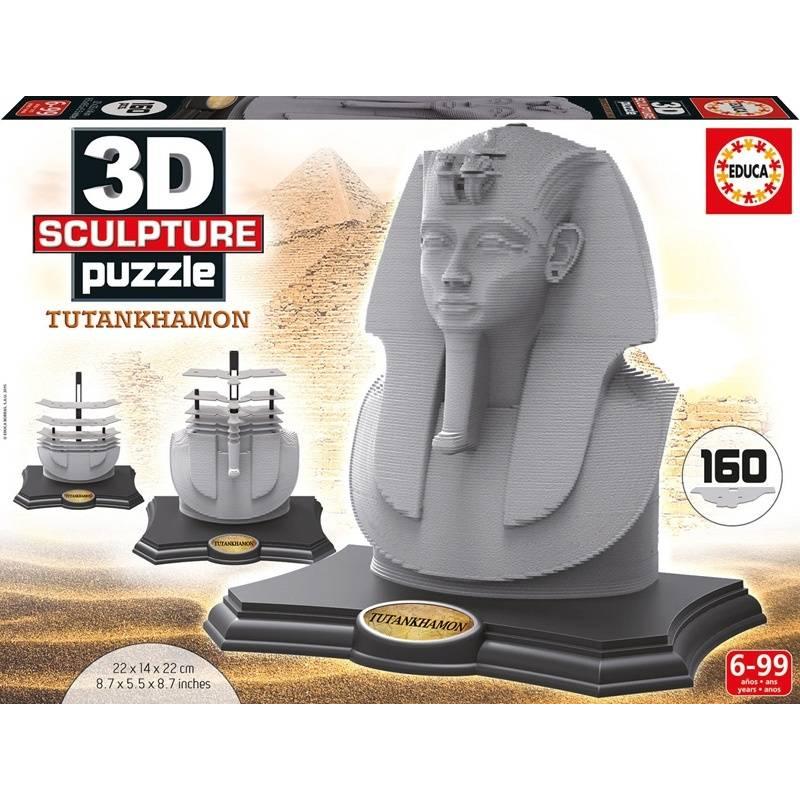 Скульптурный 3D пазл Тутанхамон 160 деталей